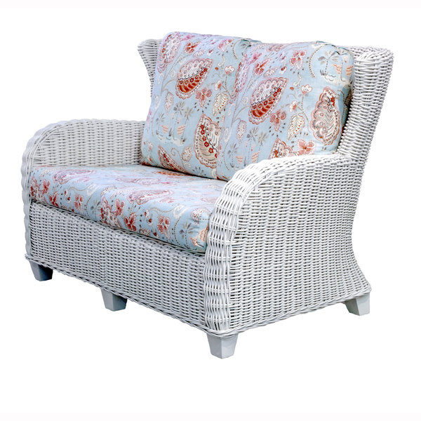Clarissa Wicker Porch Loveseat