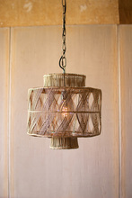 More about the 'Rattan Geometric Drum Pendant Light' product