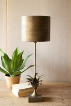 More about the 'Antique Gold Metal Table Lamp With Leaf Accent And Metal Shade' product