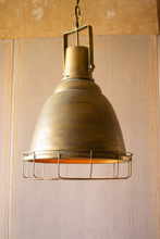 More about the 'Antique Gold Pendant Light With Cage' product