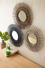 More about the 'Set Of Three Bamboo Mirrors' product