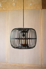 More about the 'Round Black Bamboo Pendant Lamp' product