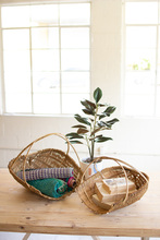 More about the 'Set Of Two Natural Bamboo Scoop Baskets' product