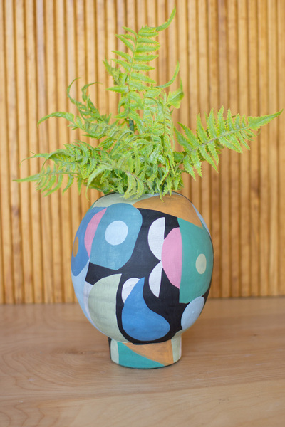 Overlapping Shapes Ceramic Vase  -  Small