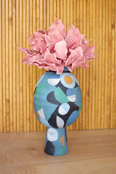 Overlapping Shapes Ceramic Vase  -  Large