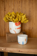 More about the 'Set Of Two Multi-Color Hand Painted Flower Pots' product