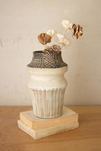 More about the 'Whites And Browns Etched Ceramic Vase' product