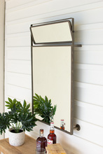 More about the 'Metal Framed Wall Mirror With Top Rotating Mirror' product