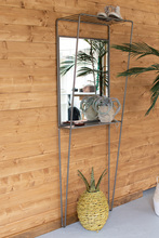 More about the 'Metal Framed Mirror With Wall Shelving Unit' product
