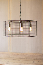 More about the 'Double Barrel Wire Mesh Hanging Pendant Light' product