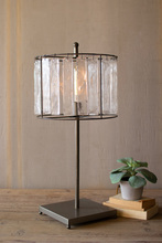 More about the 'Glass Chimes And Raw Metal Table Lamp' product