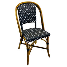 More about the 'Lyon Rattan Bistro Chair - Black w/white' product