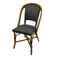 Lyon Rattan Bistro Chair- Black and White