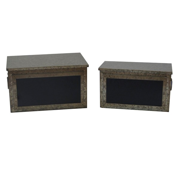 Industrial Metal Chalkboard Boxes