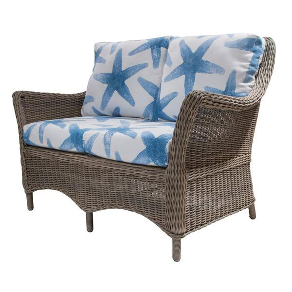 Conservatory Outdoor Wicker Loveseat
