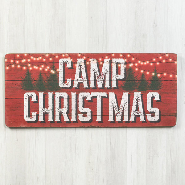 Large Camp Christmas Sign