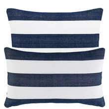 More about the 'Catamaran Stripe Navy/White Indoor/Outdoor Pillow by Pine Cone Hill' product