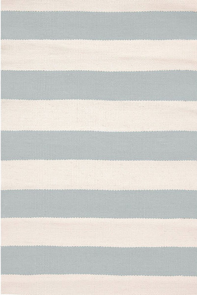Catamaran Stripe Light Blue/Ivory Indoor/Outdoor