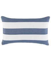 Indoor Outdoor pillow-Catamaran Denim White