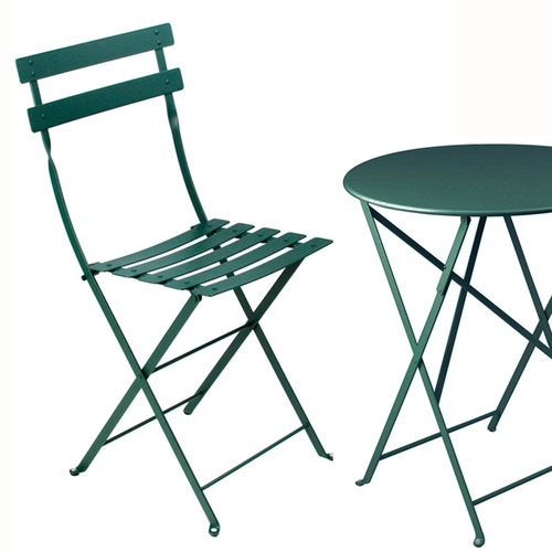 """Sale Fermob Metal Bistro™ 24"""" Folding Table & Chairs 