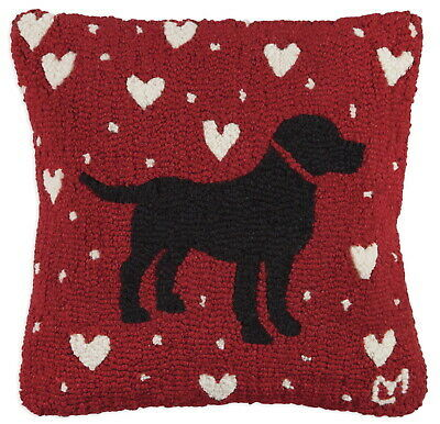 Black Lab Love Pillow by Chandler 4 Corners