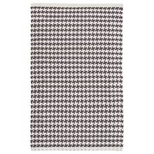 Checks Shale Woven Cotton Rug by Dash & Albert