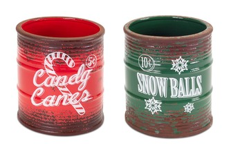 More about the 'Vintage Christmas Jars (Set of 2)  Green/Red' product