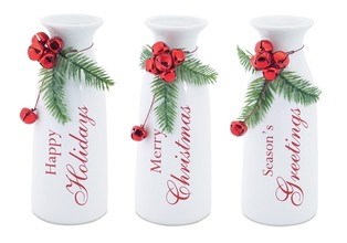 More about the 'Milk Bottles w/Bell Accent (Set of 3) White/Red' product