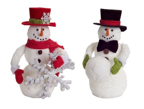 More about the 'Playful Snowmen (Set of 2)  Black/Red' product