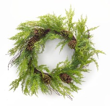 More about the 'Cypress w/Pinecone Wreath  Green/Beige' product