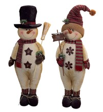 More about the 'Standing Snowmen (Set of 2)  Ivory/Burgundy' product