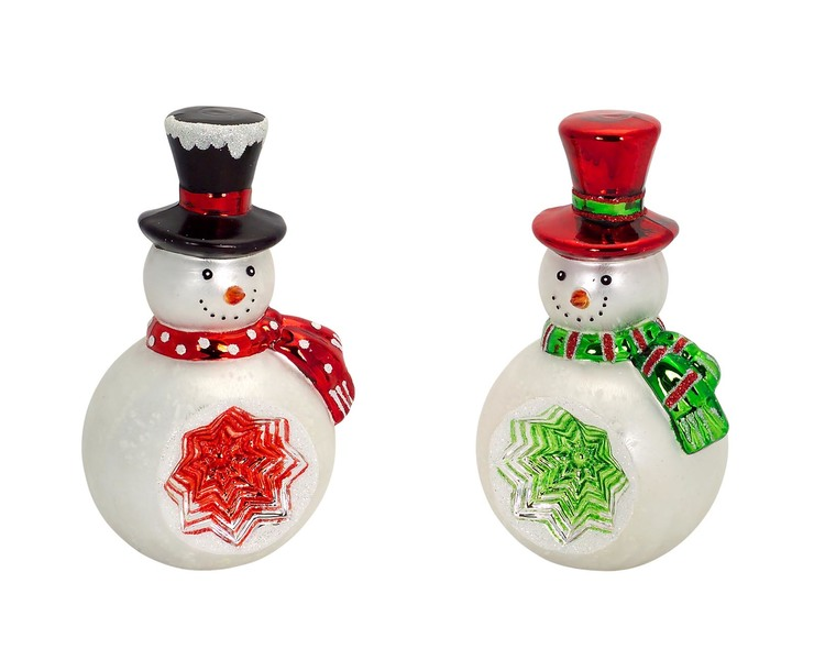 Snowman (Set of 2)  Red/Green