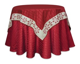 More about the 'Snowflake Table Topper  Red/Beige' product