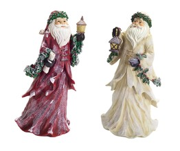 More about the 'Frosted Santa (Set of 2)  Red/Ivory' product