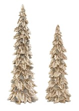 More about the 'Holly Trees w/Pinecone Detail (Set of 2)  Gold/Silver' product