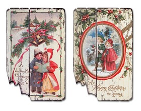 More about the 'Christmas Wall Plaques (Set of 2)  White/Red/Green' product
