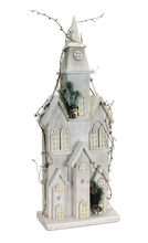 More about the 'Pre-Lit Wooden Church  White' product