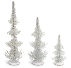 More about the 'Frosted Pine Trees (Set of 3)  White/Green' product