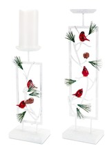 More about the 'Snowy Cardinal Candle Holder (Set of 2)  White/Red' product