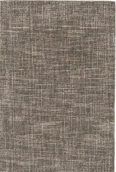 Crosshatch Charcoal Micro-Hooked Wool Rug