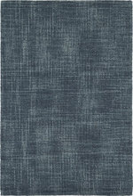 Crosshatch Denim Micro-Hooked Wool Rug