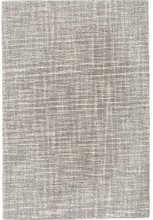 Crosshatch Dove Grey Micro-Hooked Wool Rug