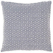 Crystal Navy White Pillow