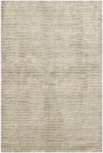 Cut Stripe Ocean Hand Knotted Wool Rug