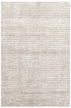 Cut Stripe Ivory Hand Knotted Wool Rug