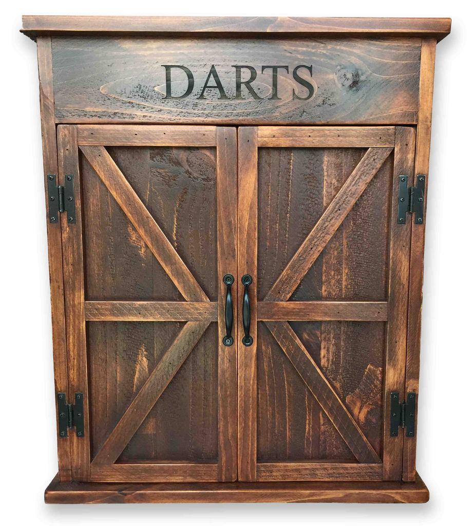 Armoire Comptoir De Famille mission dart board cabinet - personalized