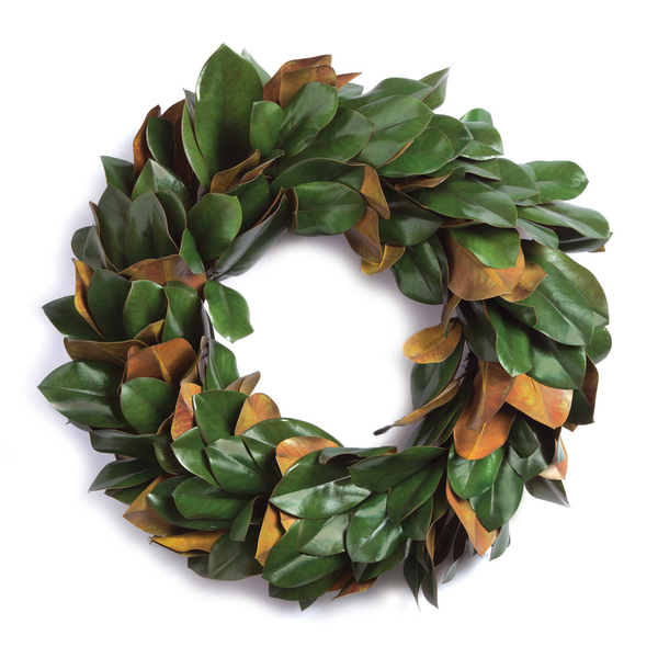 Grand Magnolia Leaf Wreath 30""