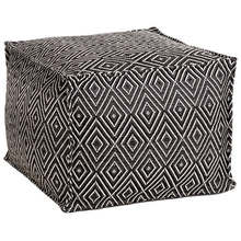 Pouf-Diamond Black Ivory