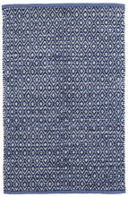 Diamond Chenille Blue Cotton Rug