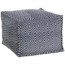 Pouf-Diamond Navy White